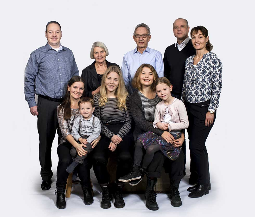 billeder med bedsteforældre og børnebørnene